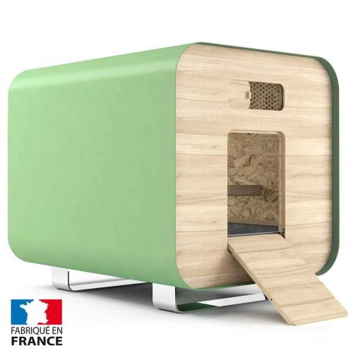 poulailler-container-vert - poule