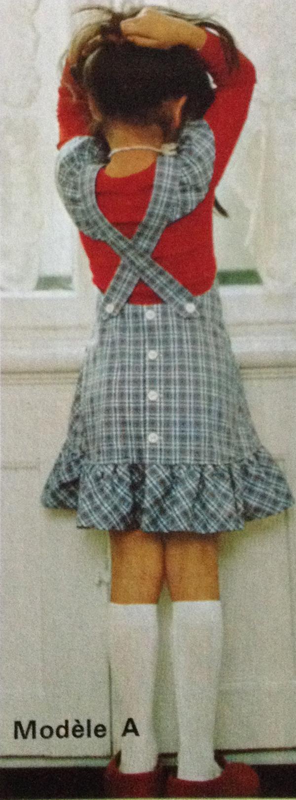 defi vintage #2 dos , robe fillette 4 et 6 ans