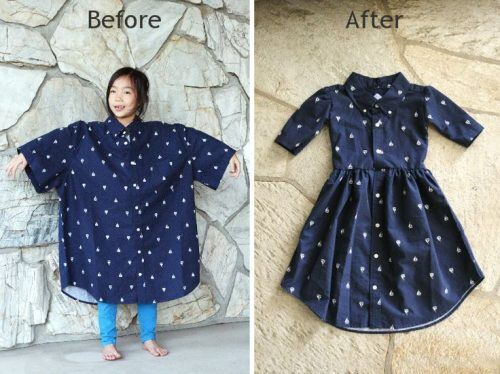 Robe petite fille upcycling